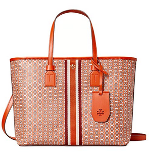 Tory Burch Gemini Link Small Tote Canyon Orange