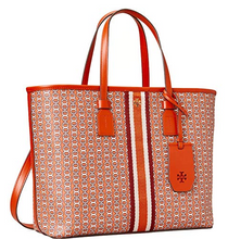 Load image into Gallery viewer, Tory Burch Gemini Link Small Tote Canyon Orange