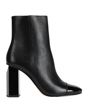 Load image into Gallery viewer, Michael Kors Petra Cap Toe Bootie Black