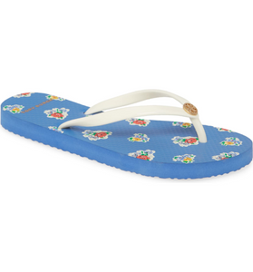 Tory Burch Thin Flip-Flop Sandal Sailor Blue