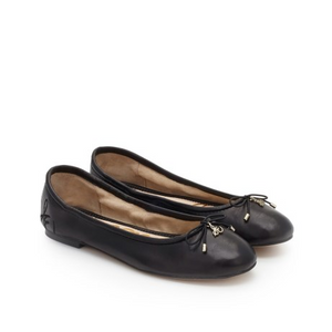 Sam Edleman Felicia Ballet Flat (5.5, Black Leather)