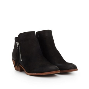 Sam Edleman Packer Ankle Bootie (6, Black Leather)