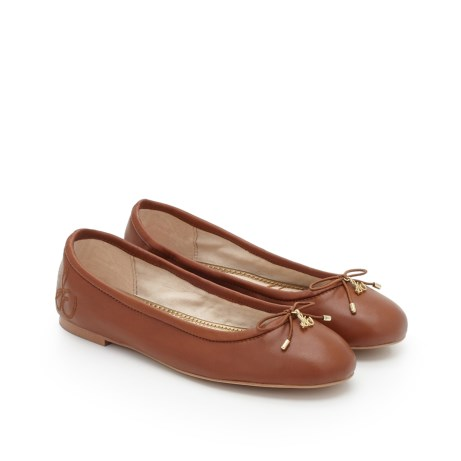 Sam Edleman Felicia Ballet Flat (5, Saddle Leather)