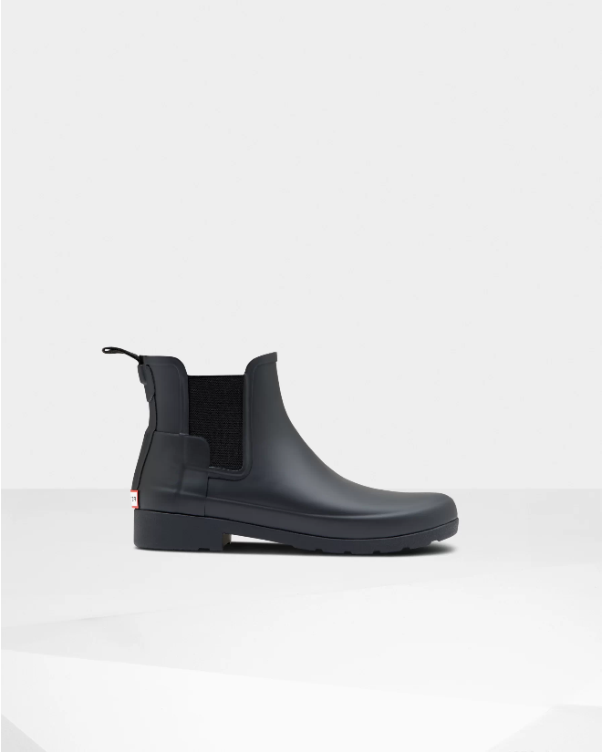 Hunter Refined Slim Fit Chelsea Boots (5, Black)