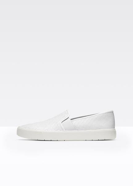 Vince Perforated Leather Blair Sneaker (5.5,White)
