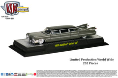 M2 Machines Stretch Rods EXCLUSIVE RELEASE - 1959 Cadillac - Charcoal Gray with Black Vinyl Top