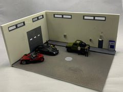 MINI-MOTORS, Inc. - Exclusive Release - Interior/Exterior Garage Diorama Display Kit