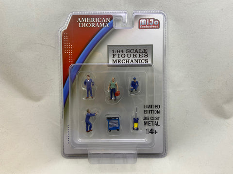 American Diorama Mechanic Figures I (Blue) - MiJo Exclusive - 6 Pieces