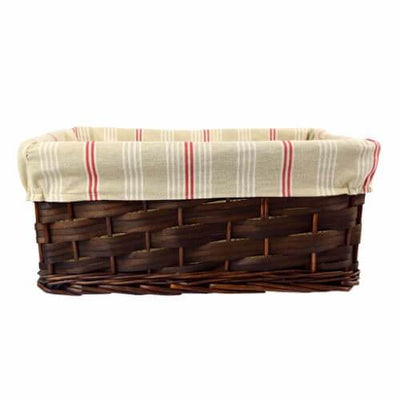 Wood Chip Basket with Linen Liner