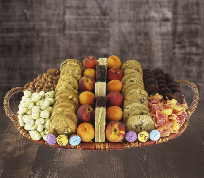 Cookies and Fruit Snacking Basket