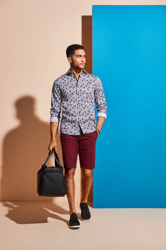 casual shirt with flower bermuda edition22 bag