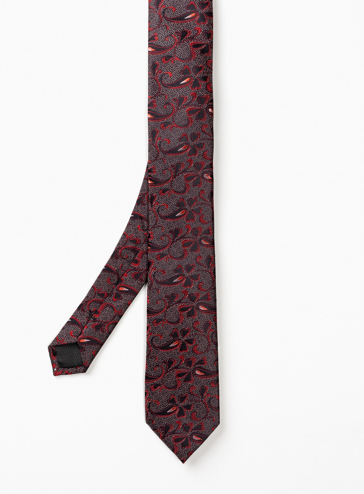 subtil paisley tie - anthony of london -red