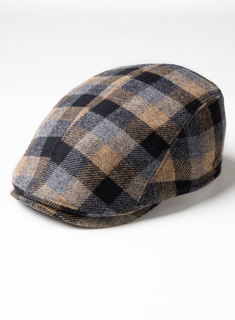 """Richmond"" Check Cap - Gottmann -BURLYWOOD"