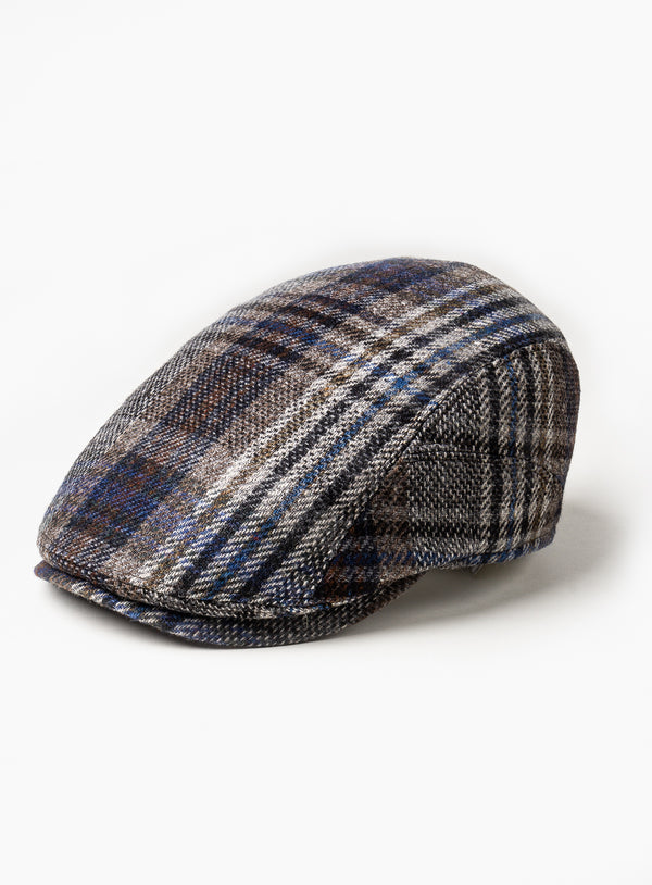 """Richmond-K"" Cognac Plaid Cap  - Gottmann -COGNAC"