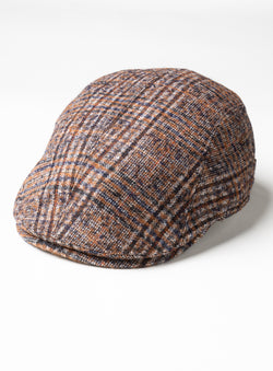 """Kingston"" Plaid Cap - Gottmann -RUST"