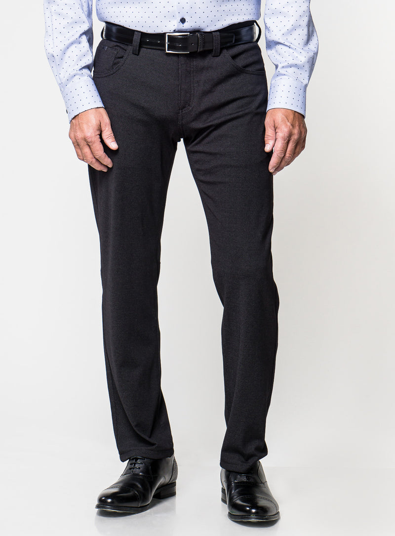Pin Dot Dress Pant - Bertini -BLACK