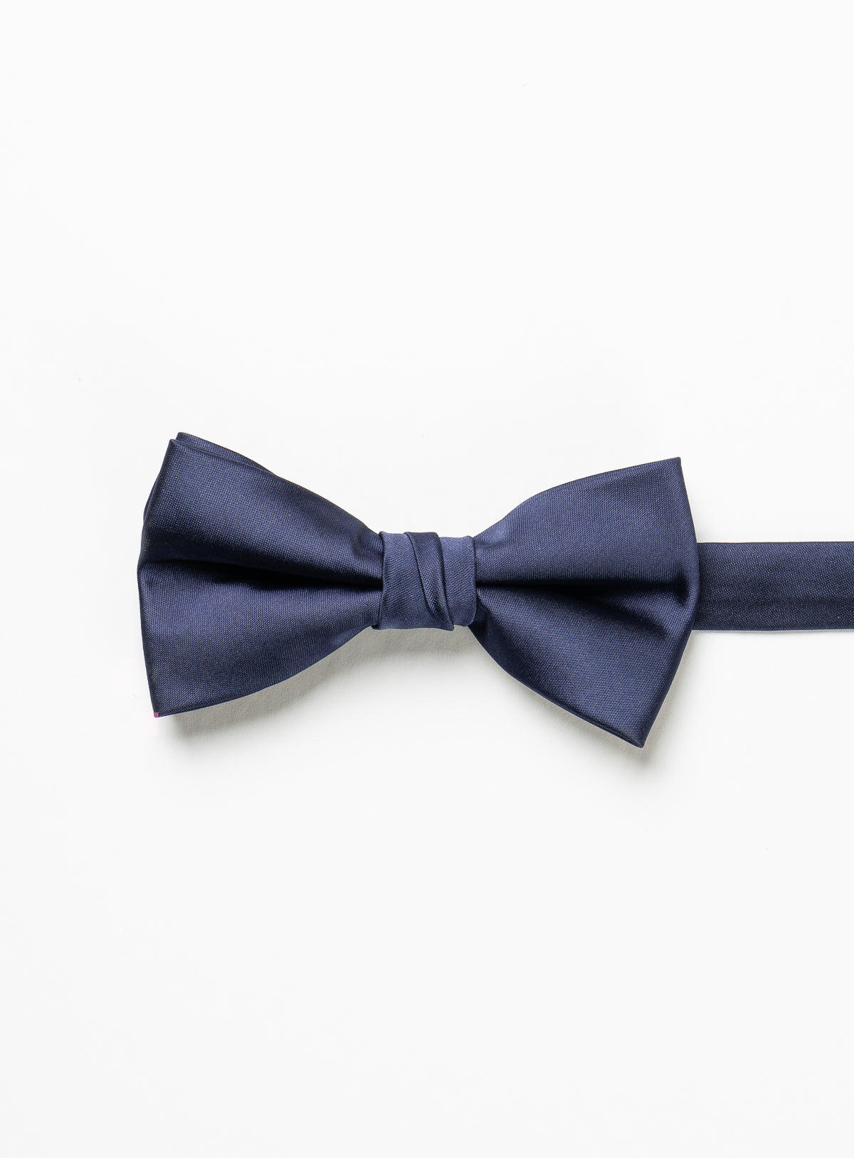 solid navy bow tie - anthony of london -navy