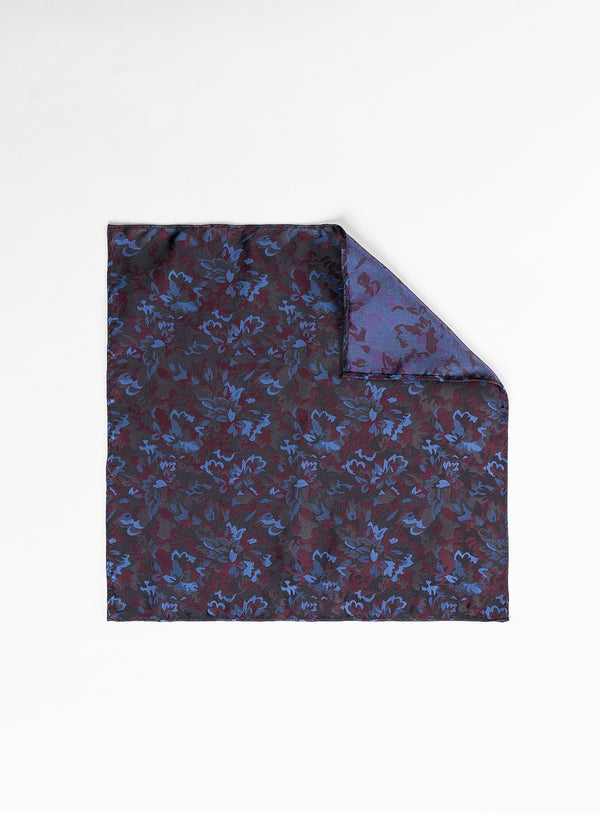 Raspberry Floral Pocket Square - Anthony of London -RASPBERRY