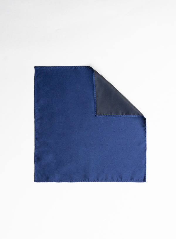 Navy Solid Pocket Square - Anthony of London -NAVY