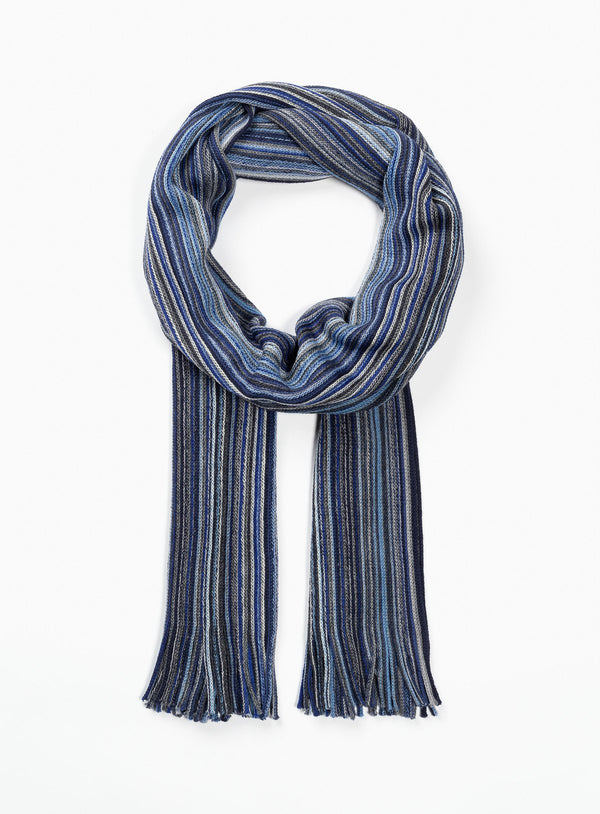 Fine Stripes Scarf - Orvieto -NAVY
