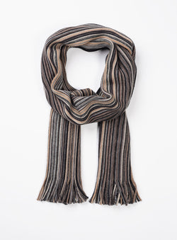 TAN STRIPE SCARF FROM BRAND . ERNEST -TAN