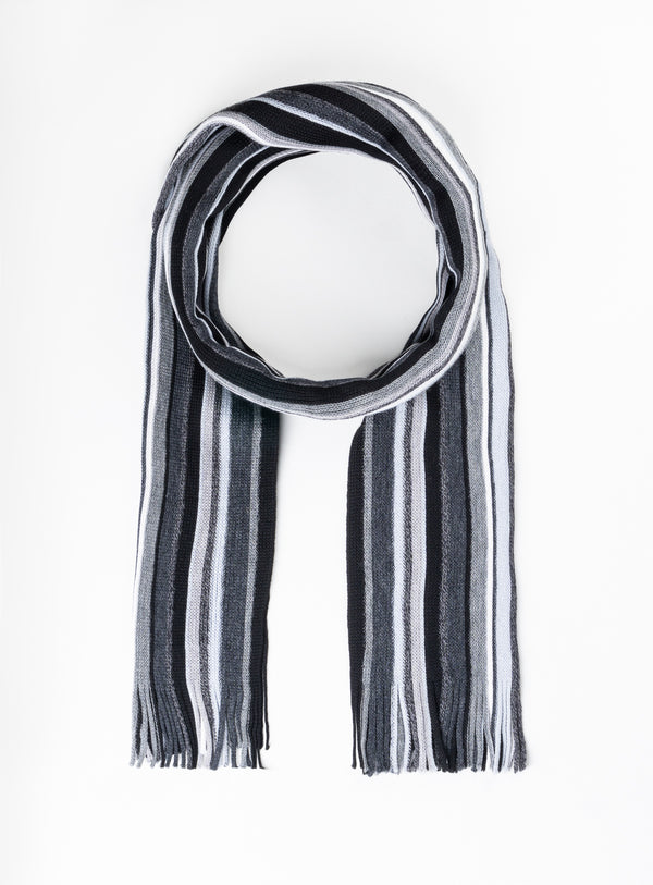Multi Stripe Scarf - Orvieto -CHARCOAL