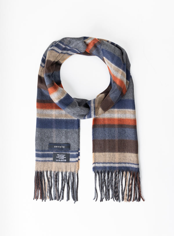 Rust Plaid Scarf - Orvieto -RUST