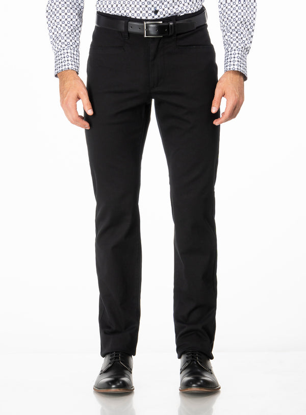 Coloured Chino - Anthony of London -BLACK