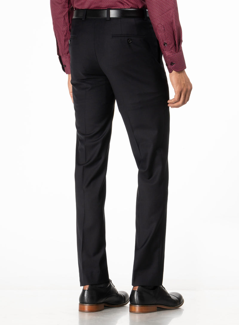 colour travel pants from brand riviera. ernest -black