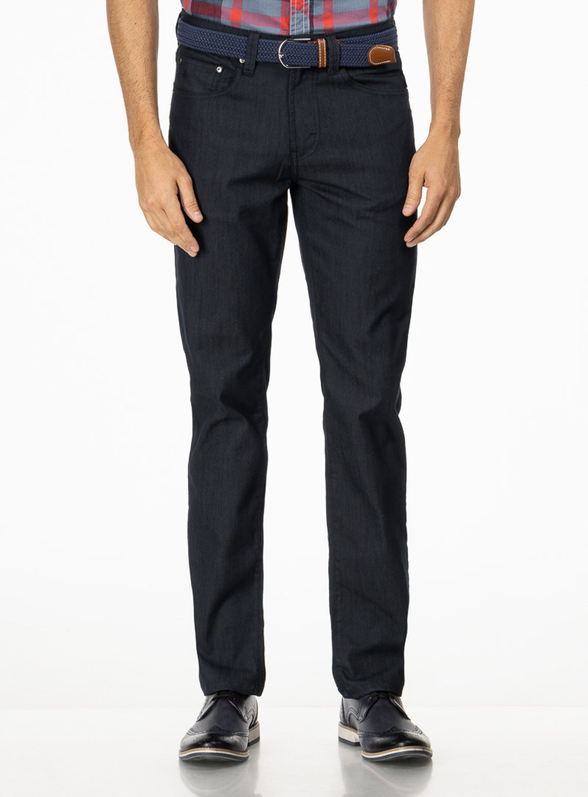 "stretch twill ""brad"" chino - lois -navy"