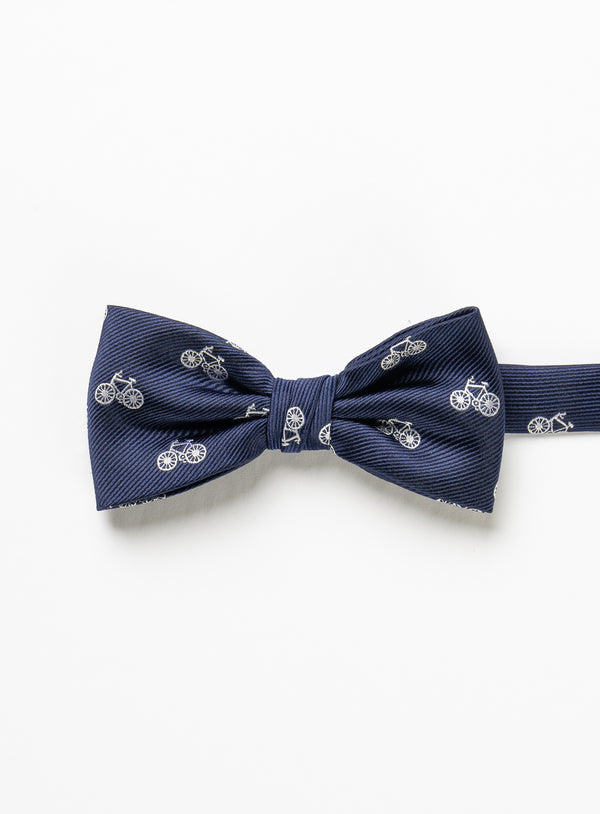 Bicycle Print Bow Tie - Marco Ferrera -NAVY