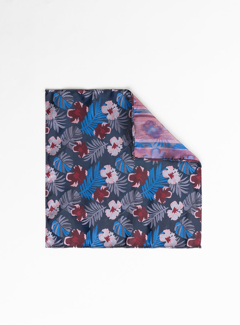 pink floral pocket square - anthony of london -pink
