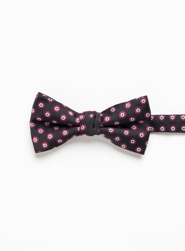 Dot Pattern Bow Tie - Soul of London -BLACK