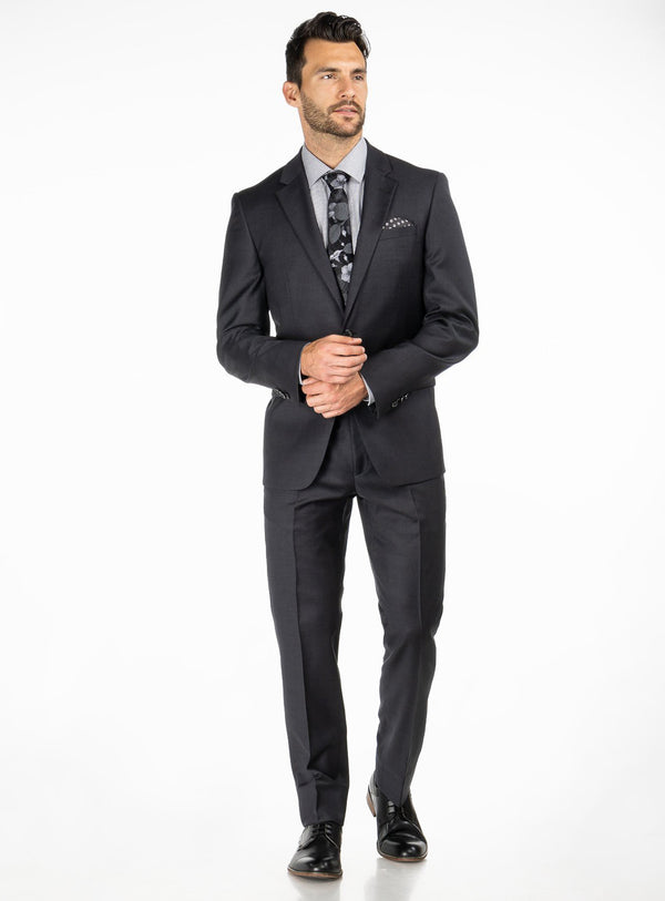 Grey Solid Colour 4 Season Suit - Orvieto -GREY
