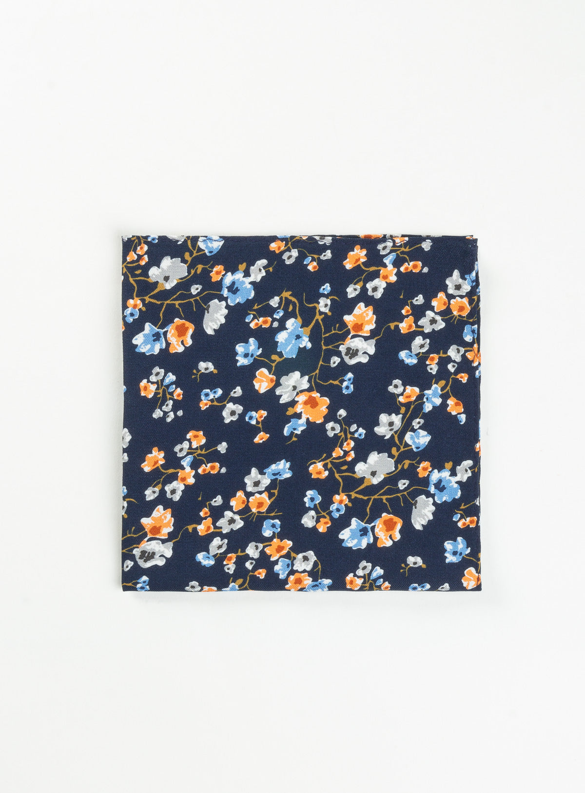 floral navy pocket square - anthony of london -navy