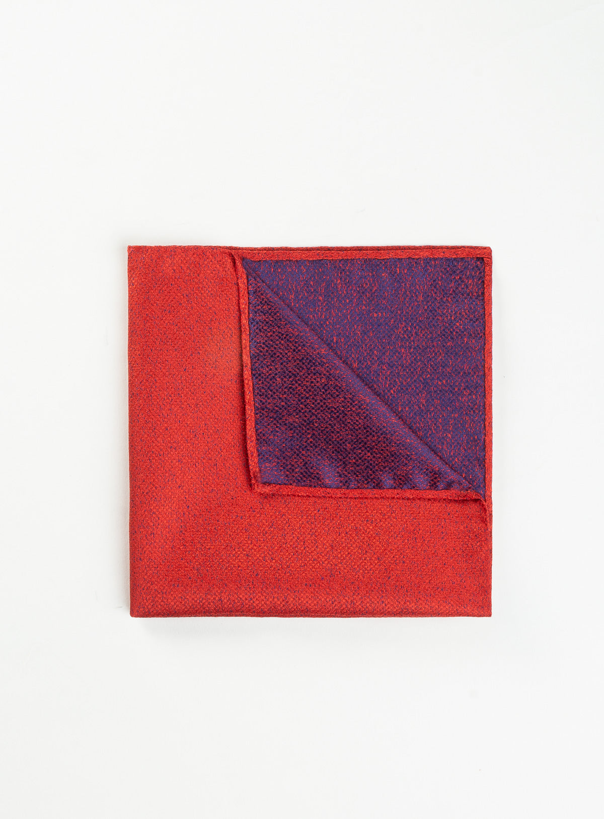 neat red pocket square - anthony of london -red