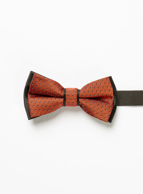Micro Dot Red Bow Tie - Anthony Of London -RED