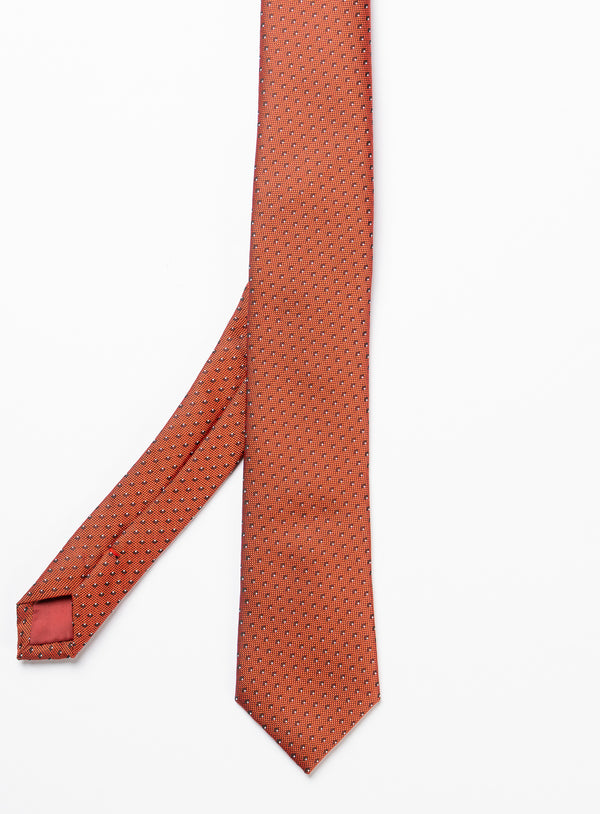 Micro Dot Red Tie - Anthony Of London -RED