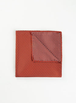 Micro Dot Red Pocket Square - Anthony Of London -RED