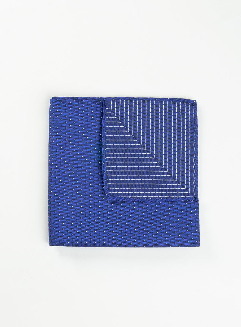 micro dot royal blue pocket square - anthony of london -royalblue