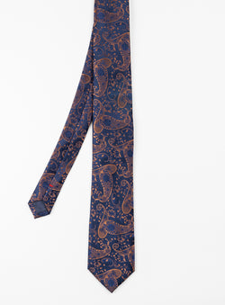 Cognac Paisley Pocket Square - Anthony of London -COGNAC
