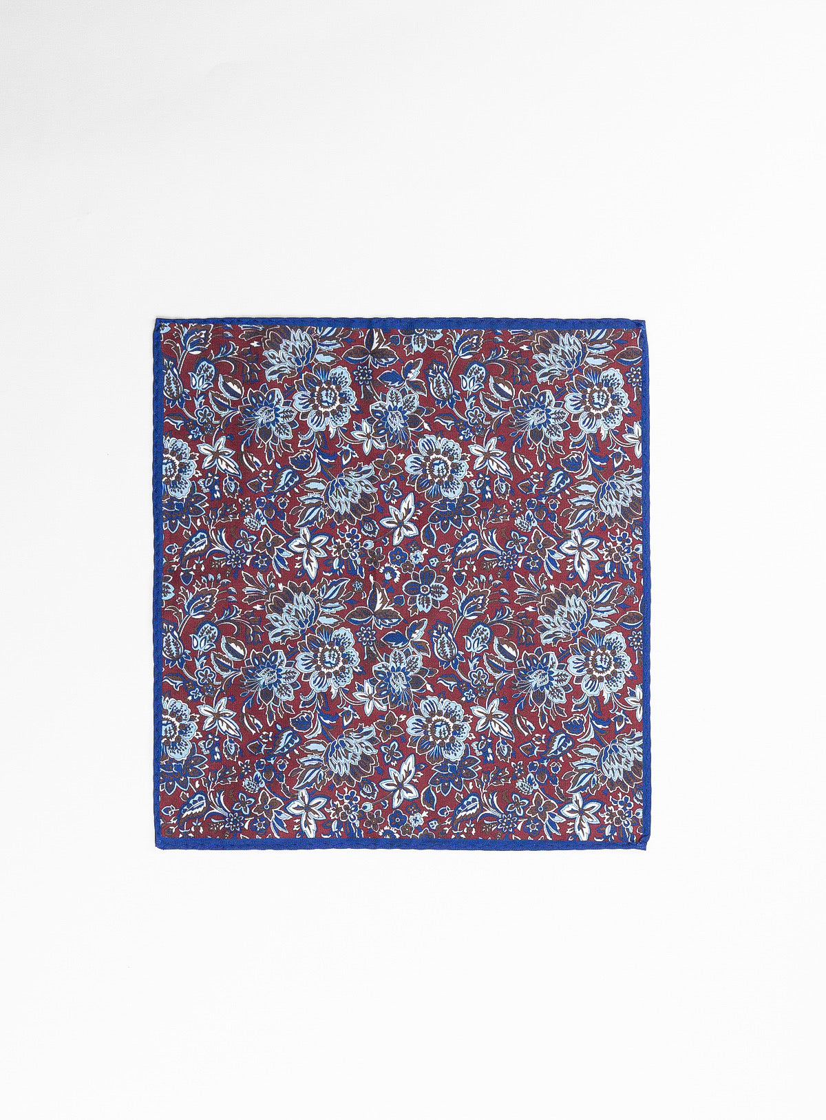 fushia flowers pocket square - anthony of london -raspberry