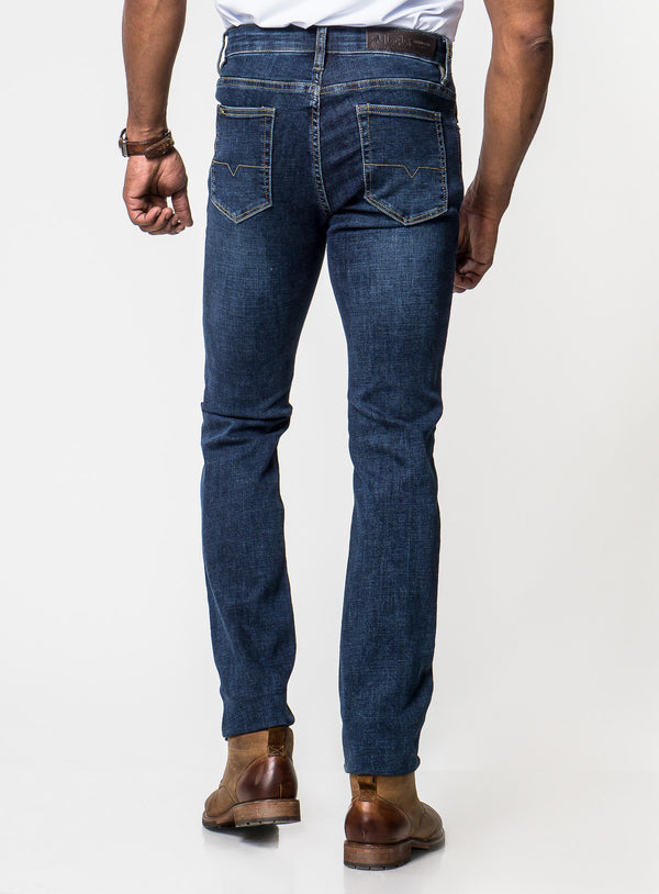 "Crosshatched ""New Star"" Jeans - Lois -BLUE"