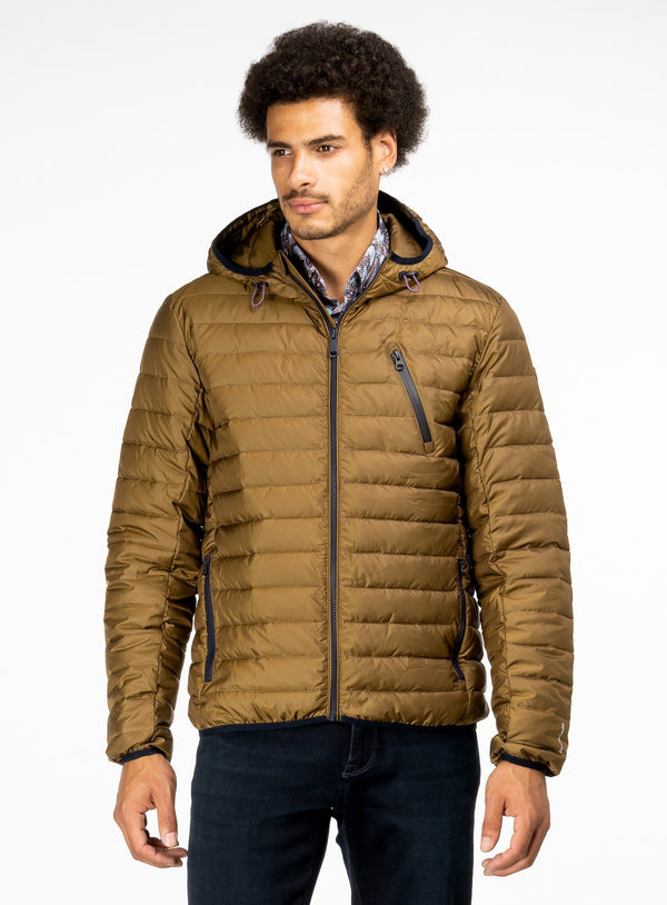 BLACK FRIDAY PUFFER JACKET - ORVIETO FROM BRAND ORVIETO. ERNEST -COGNAC