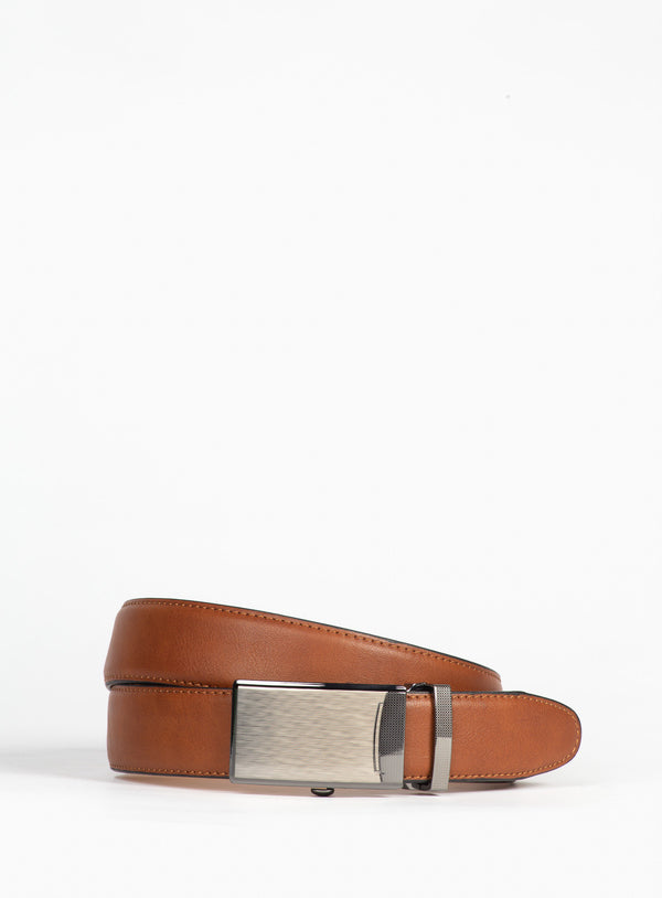 Dressy Tan Leather Belt - Anthony Of London -TAN