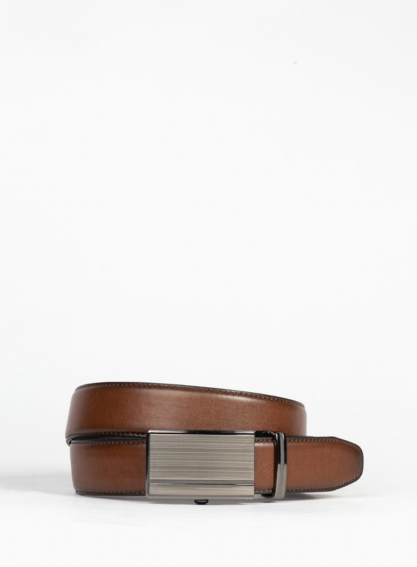Cognac Dress Belt - Anthony Of London -COGNAC