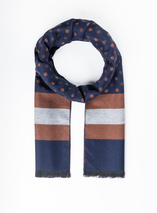 Cognac Dot Scarf - Anthony of London -COGNAC