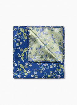 GREEN BIG PAISLEY POCKET SQUARE FROM BRAND ANTHONY OF LONDON. ERNEST -GREEN