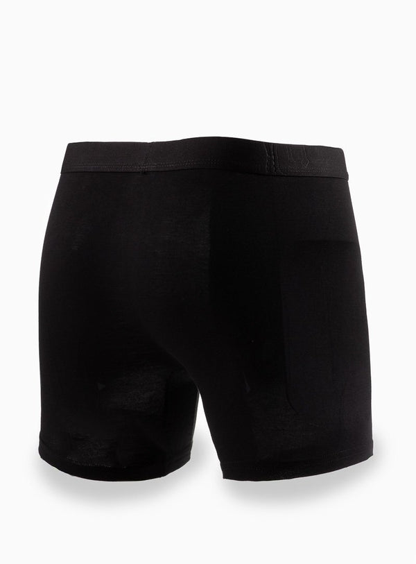 SOLID COLOR BAMBOO BOXER UNDERWEAR FROM BRAND ANTHONY OF LONDON. ERNEST -BLACK