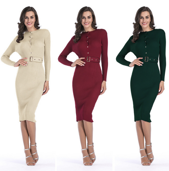 Women Midi Sweater Dress